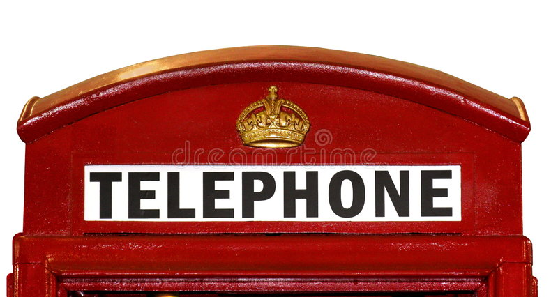 British Telephone Box Closeup royalty free stock photography