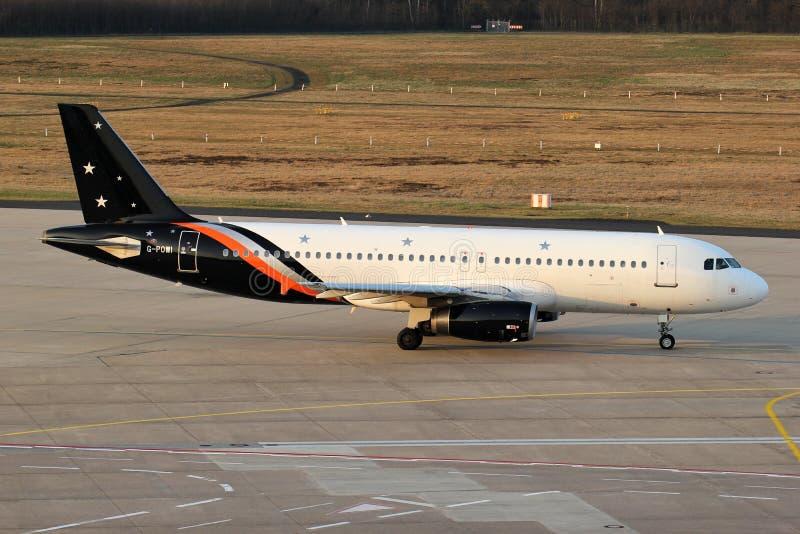 Titan Airways Airbus A320-200 stock photo
