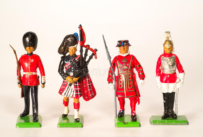 British Toy Soldiers stock image