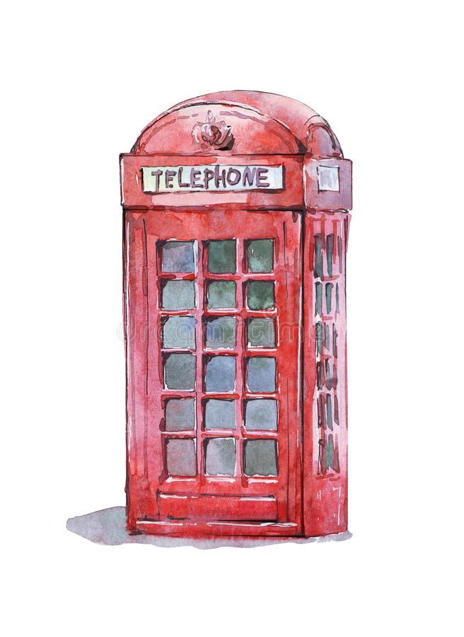 British traditional telephone booth vector illustration