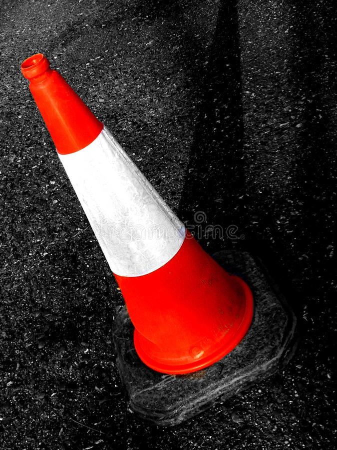 British traffic cone. Abstrsct creative British traffic cone scene stock images