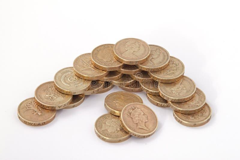 British, UK, Pound Coins Royalty Free Stock Photos