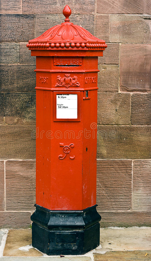 Download British Victorian Hexagonal Royal Mail Postbox. Stock Image - Image: 25647713