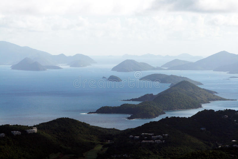 British virgin islands. The british virgin islands from st. thomas royalty free stock images