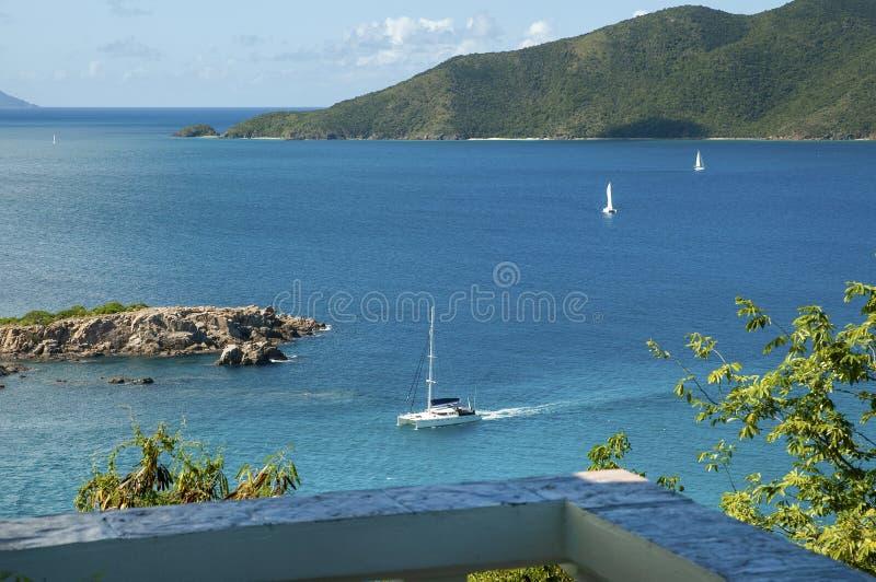British Virgin Islands Caribbean Sea View royalty free stock photo