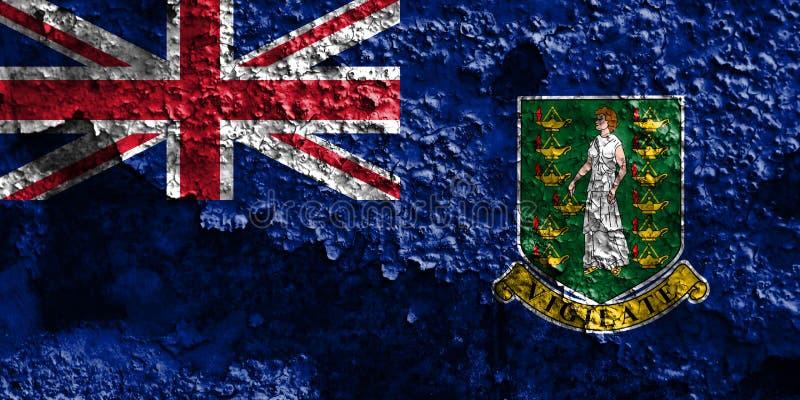 British Virgin Islands grungeflagga, brittiska utländska territorier royaltyfri foto