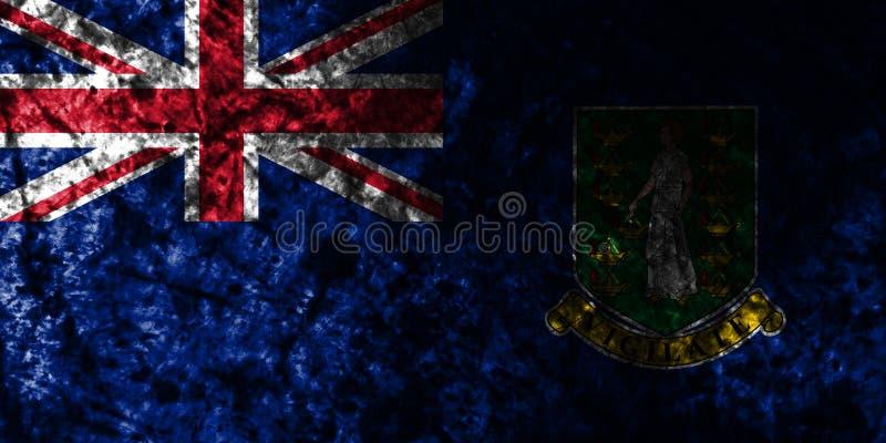 British Virgin Islands grungeflagga på den gamla smutsiga väggen, beroende territorium flagga för brittiska utländska territorier vektor illustrationer
