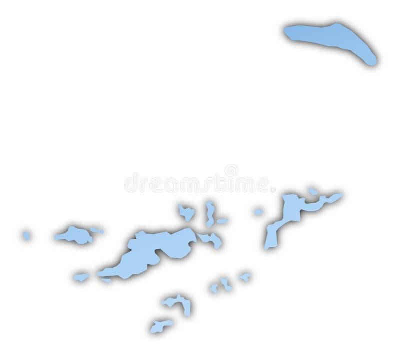 download british virgin islands map stock illustration illustration of mercator 7263141