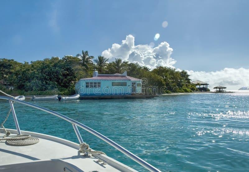 British Virgin Islands Marina Cay stock photo