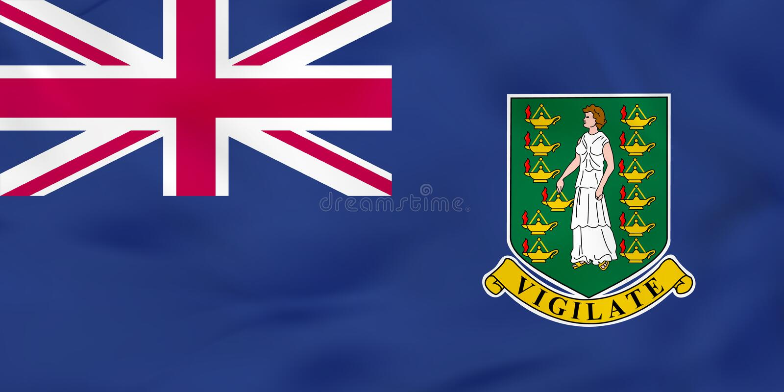 British Virgin Islands que agitan la bandera Textura del fondo de la bandera nacional de British Virgin Islands libre illustration