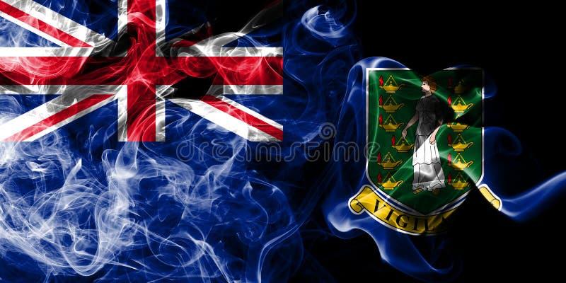 British Virgin Islands röker flaggan, beroende territoriet flagga för brittiska utländska territorier, det Britannien vektor illustrationer