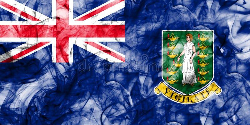 British Virgin Islands rökflagga, brittiska utländska territorier, royaltyfri illustrationer