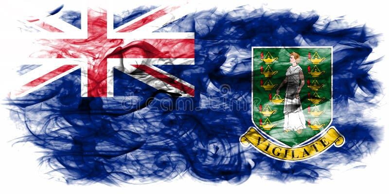 British Virgin Islands rökflagga, brittiska utländska territorier, vektor illustrationer