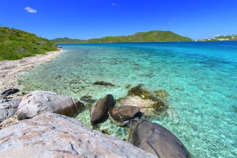 The British Virgin Islands. Tortola of the British Virgin Islands on a beautiful sunny day stock photo