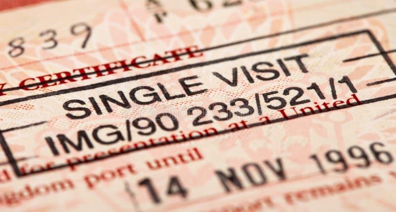 British visa stamp