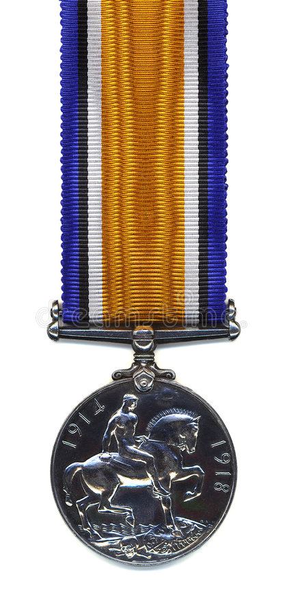 Free British War Medal, 1914 - 18 (Back) Royalty Free Stock Photography - 1227657