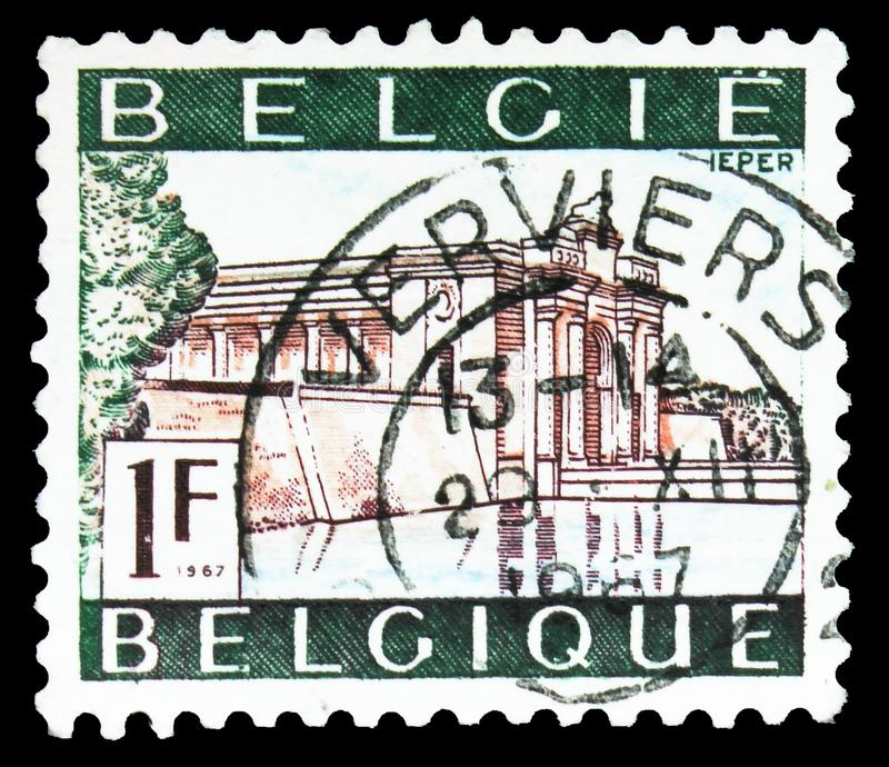 British War Memorial, Ypres - Ieper, série touristique, vers 1967 images stock