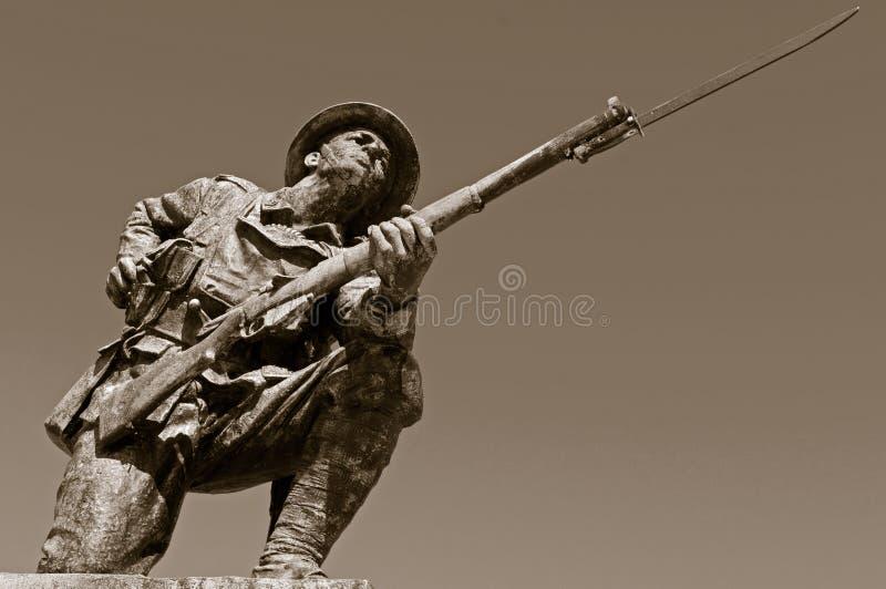 British WW1 Soldier Statue stock images
