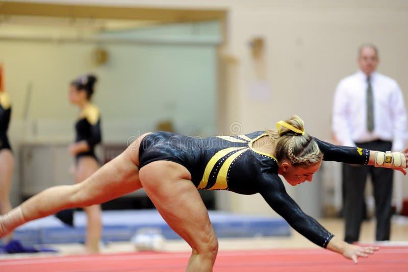 britney体操运动员夫人ncaa罗素 免版税库存图片