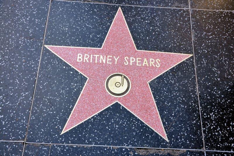 Britney Spears星形 免版税库存照片