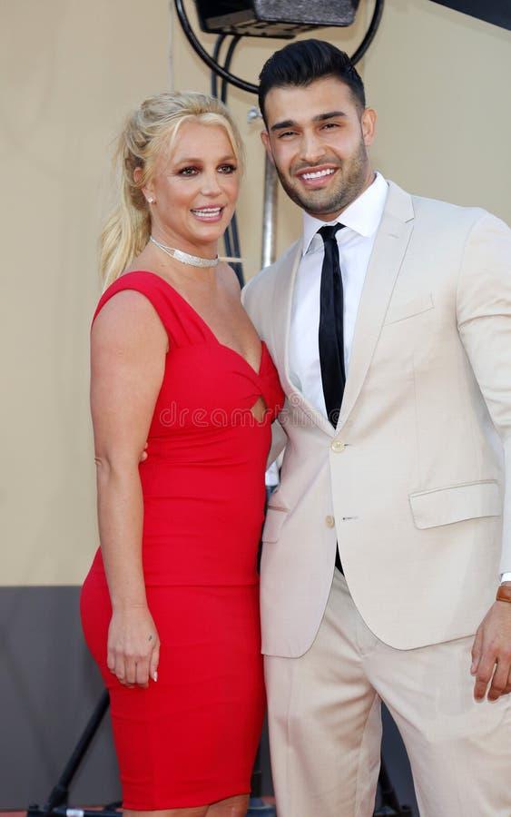 Britney Spears Asghari i Sam zdjęcia royalty free