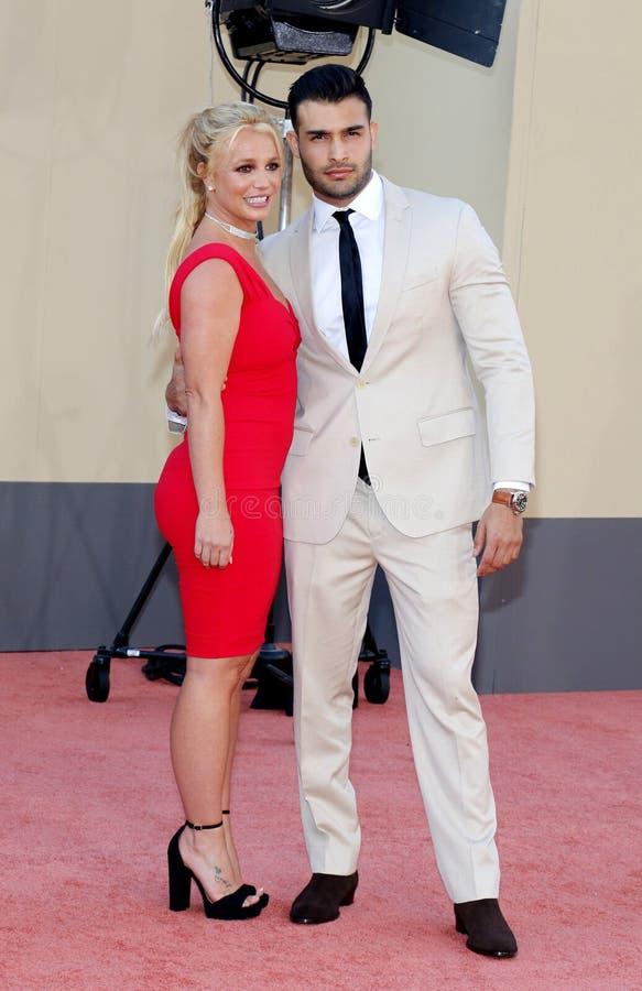 Britney Spears et Sam Asghari photo stock