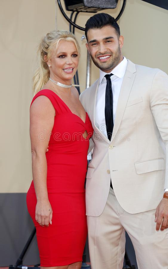 Britney Spears och Sam Asghari royaltyfria foton