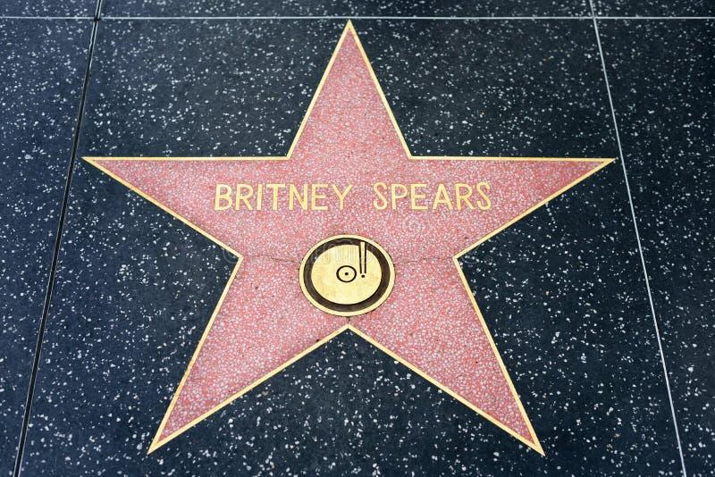 Britney Spears Star op de Hollywood-Gang van Bekendheid stock afbeeldingen