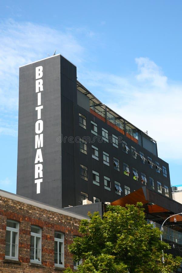Britomart assina dentro Auckland do centro fotos de stock royalty free