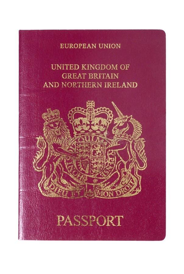 Brits Europees Paspoort schutblad royalty-vrije stock foto's