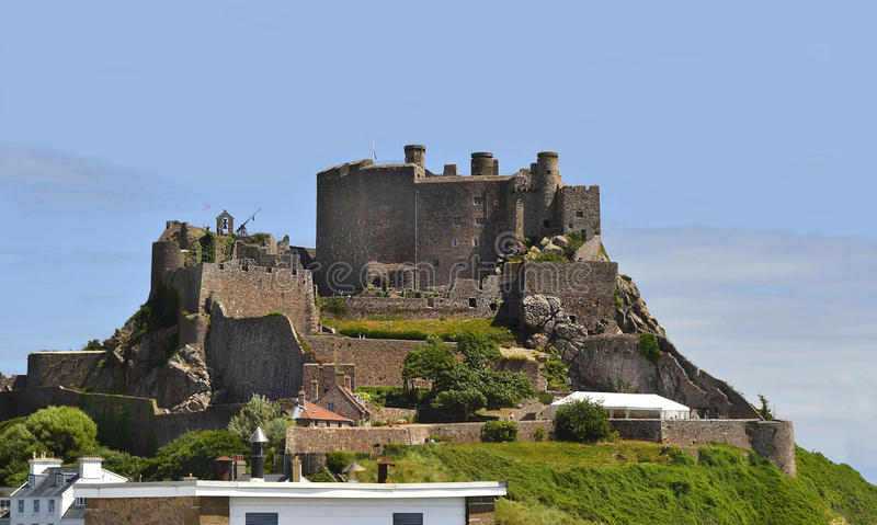 Brits, Jersey Eiland, kasteel stock afbeeldingen