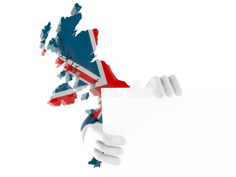 Brits karakter achter muur vector illustratie