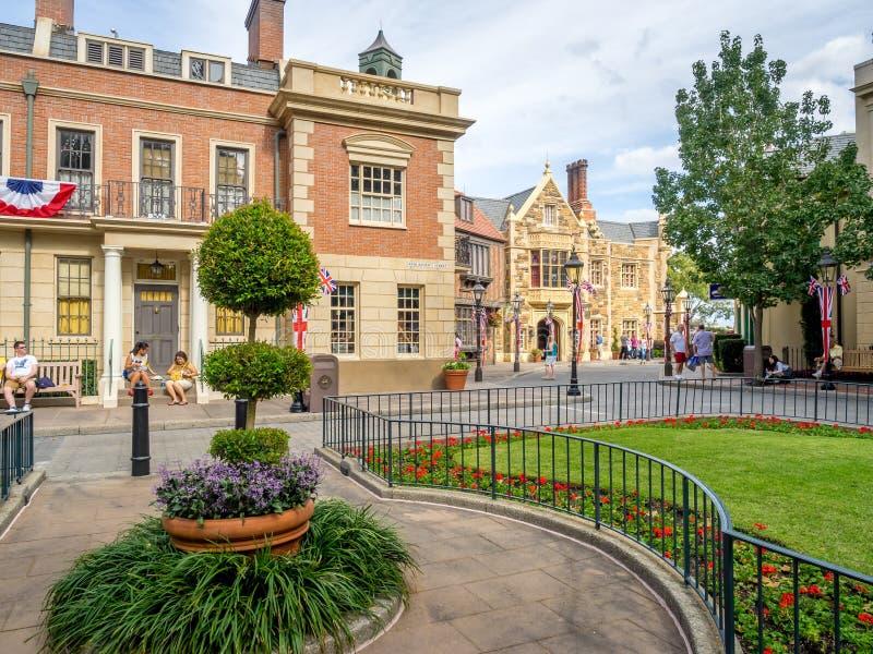 Brits Paviljoen, Wereldshowcase, Epcot royalty-vrije stock afbeeldingen