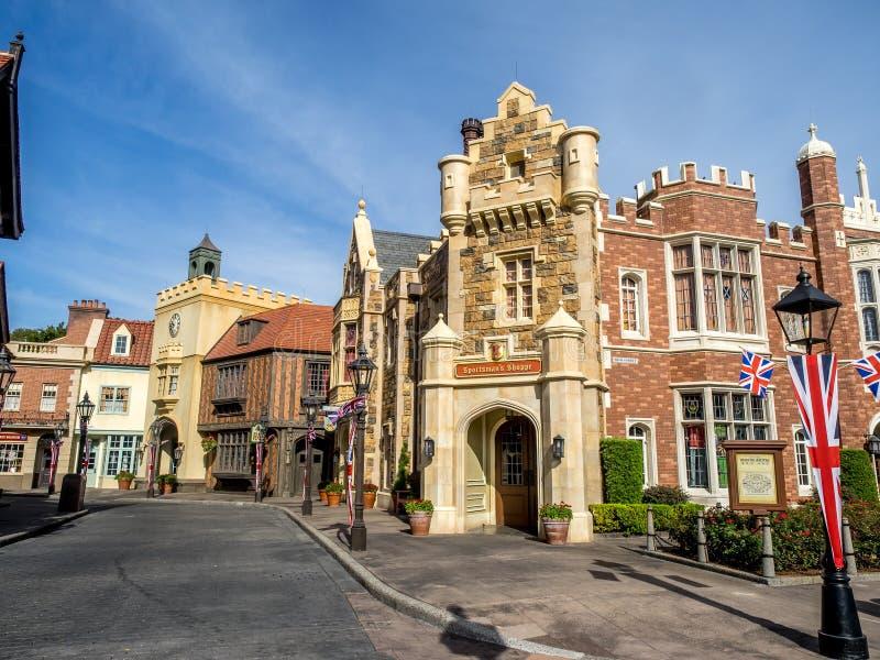 Brits Paviljoen, Wereldshowcase, Epcot royalty-vrije stock afbeelding