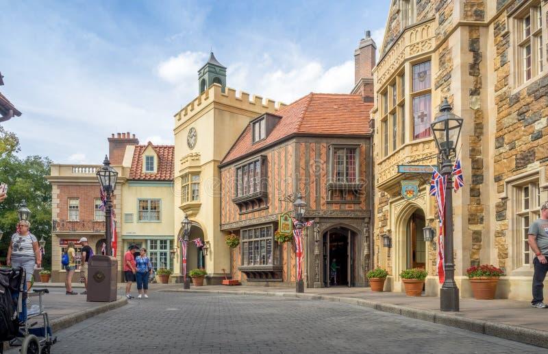 Brits Paviljoen, Wereldshowcase, Epcot stock fotografie