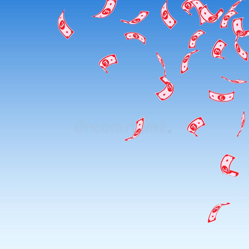 Brits pond valt onder Sparse GBP-rekeningen op b stock illustratie