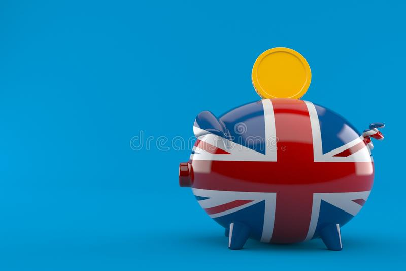 Brits spaarvarken royalty-vrije illustratie