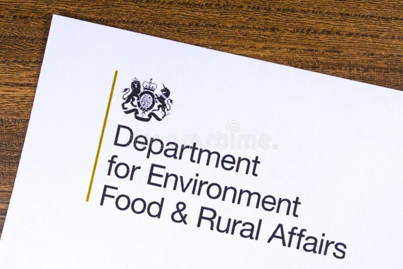 Britse Afdeling voor Milieuvoedsel en Landelijke Zaken royalty-vrije stock afbeeldingen