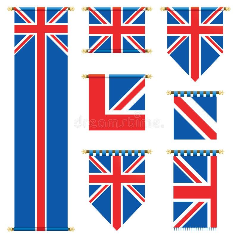 Britse banners vector illustratie