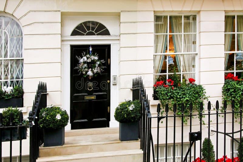 Britse deurvoorzijde royalty-vrije stock afbeeldingen
