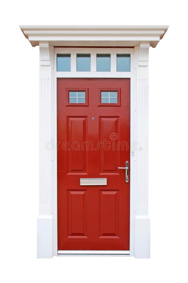 Britse huisdeur royalty-vrije stock afbeelding