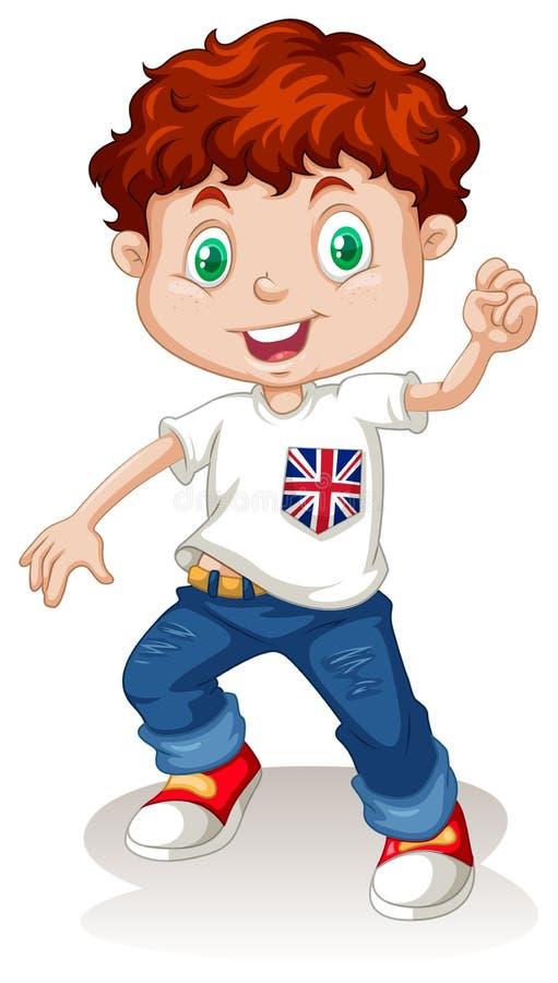 Britse jongen die jeans dragen royalty-vrije illustratie