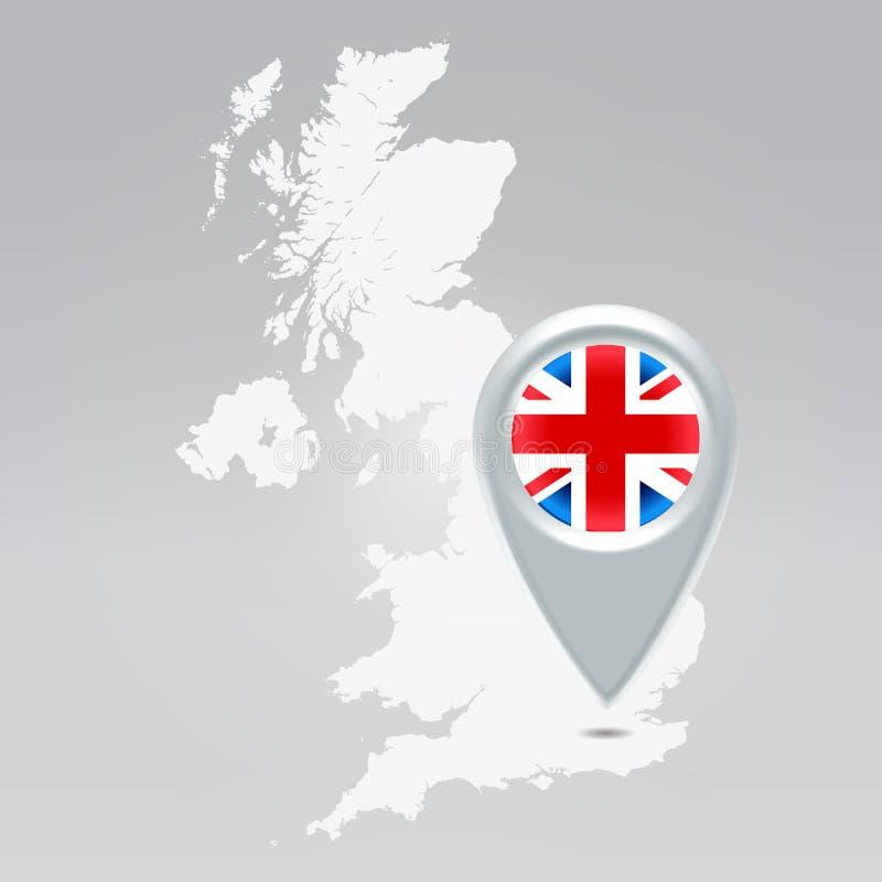Britse Londen speld royalty-vrije illustratie