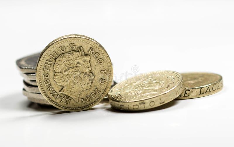 Britse Muntstukken - Voorraadbeeld royalty-vrije stock afbeelding
