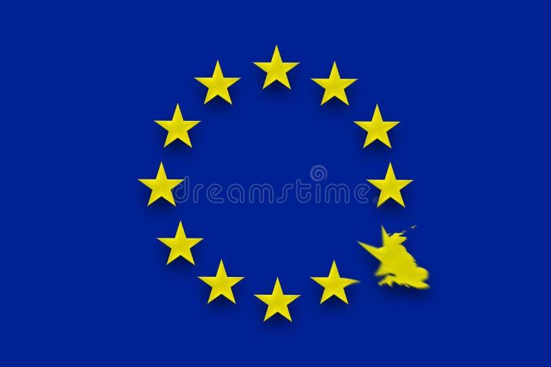 Britse onderbrekingen vrij van de Europese Unie royalty-vrije stock foto