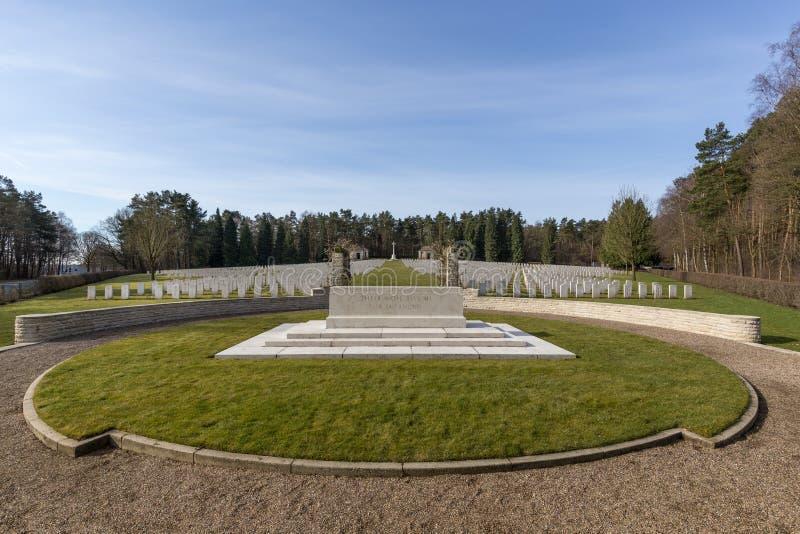 Britse Oorlogsbegraafplaats in Becklingen, Duitsland stock fotografie