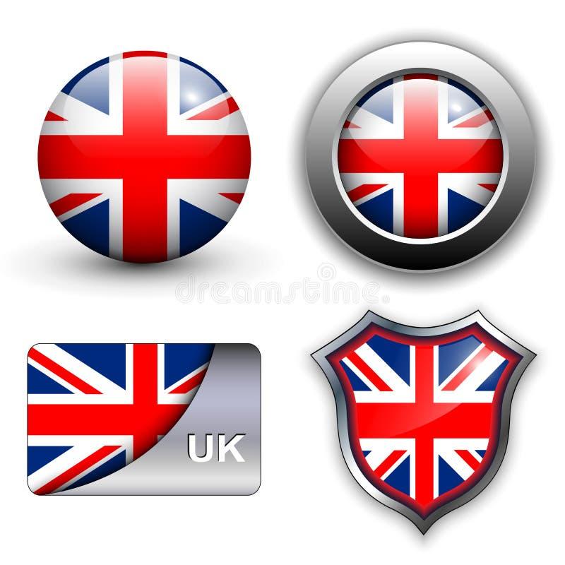 Britse pictogrammen royalty-vrije illustratie