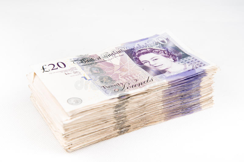 Britse pondbankbiljetten royalty-vrije stock foto's