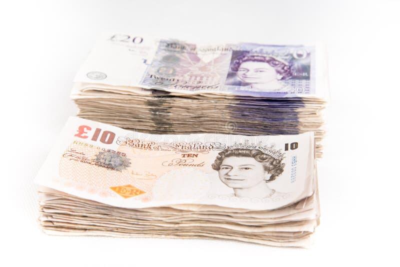 Britse pondbankbiljetten royalty-vrije stock afbeelding