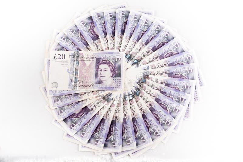 Britse pondbankbiljetten royalty-vrije stock fotografie